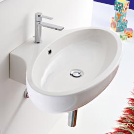 Scarabeo Planet countertop or wall-mounted washbasin white