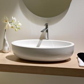 Scarabeo Planet oval countertop washbasin white