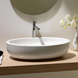 Scarabeo Planet oval countertop washbasin white, with BIO system coating