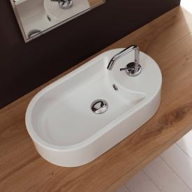 Scarabeo Seventy countertop washbasin white, with BIO system coating