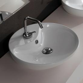 Scarabeo Shape countertop washbasin white, with BIO system coating