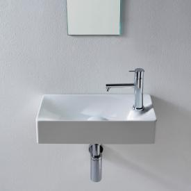 Scarabeo Soft countertop or wall-mounted washbasin white, with BIO system coating