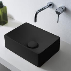 Scarabeo Soft countertop washbasin matt black, with BIO system coating