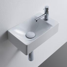 Scarabeo Soft Vasque suspendue ou à poser blanc, avec revêtement «BIO System»
