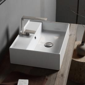 Scarabeo Teorema 2.0 countertop hand washbasin white, with BIO system
