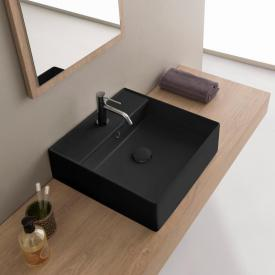 Scarabeo Teorema 2.0 countertop or wall-mounted hand washbasin matt black