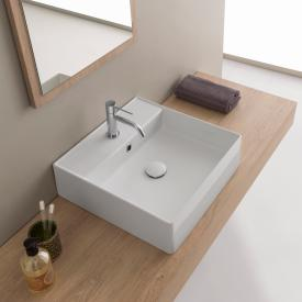Scarabeo Teorema 2.0 countertop or wall-mounted hand washbasin white, with BIO system