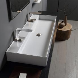 Scarabeo Teorema 2.0 countertop or wall-mounted washbasin white, with BIO system