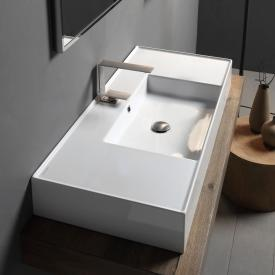 Scarabeo Teorema 2.0 countertop or wall-mounted washbasin white, with BIO system coating