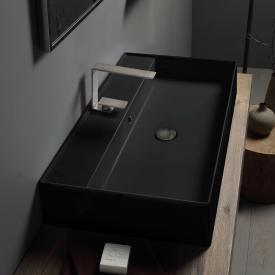 Scarabeo Teorema 2.0 countertop or wall-mounted washbasin matt black, with BIO system coating