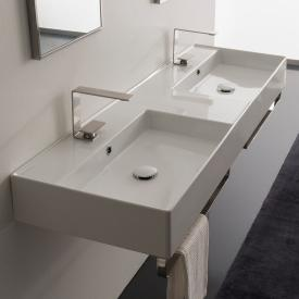 Scarabeo Teorema 2.0 double countertop or wall-mounted hand washbasin white, with BIO system