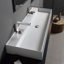 Scarabeo Teorema 2.0 double countertop or wall-mounted washbasin white, with BIO system coating