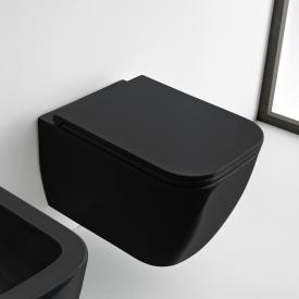 Scarabeo Teorema 2.0 wall-mounted washdown toilet, rimless black, with BIO System coating