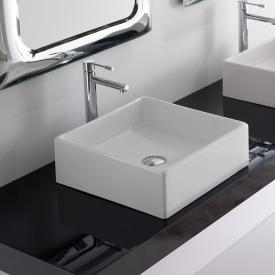 Scarabeo Teorema countertop washbasin white, with BIO system