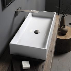Scarabeo Teorema countertop washbasin white, with BIO system coating