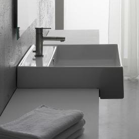Scarabeo Teorema semi-recessed washbasin white, with BIO system coating