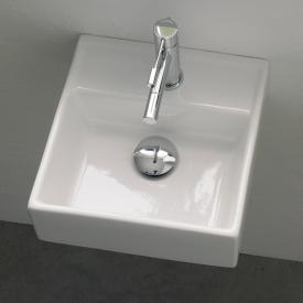 Scarabeo Teorema R countertop or wall-mounted washbasin white, without overflow