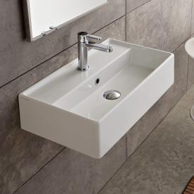 Scarabeo Teorema R countertop or wall-mounted washbasin white, with BIO system coating