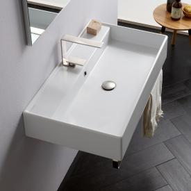 Scarabeo Teorema R countertop or wall-mounted washbasin white, with BIO system