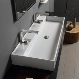 Scarabeo Teorema RB double countertop or wall-mounted washbasin white