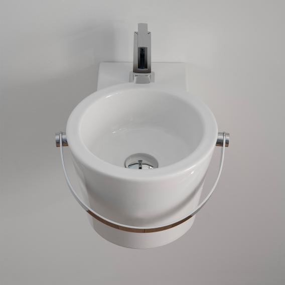 Scarabeo Bucket countertop or wall-mounted washbasin white