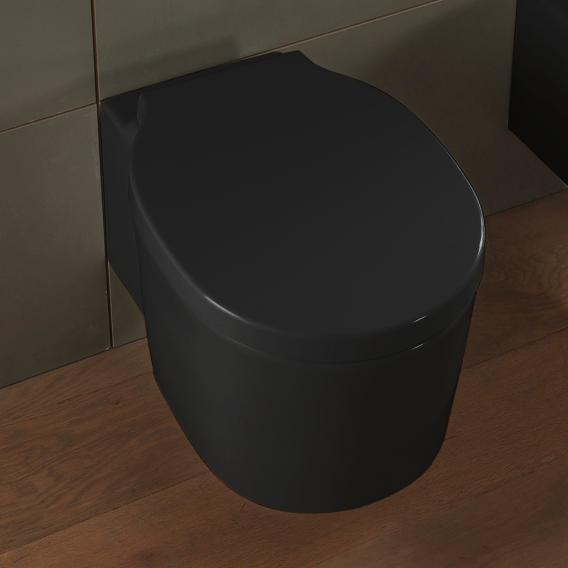 Scarabeo Bucket wall-mounted washdown toilet rimless, black