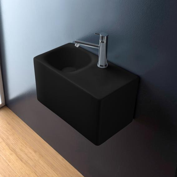 Scarabeo Cube countertop or wall-mounted washbasin matt black