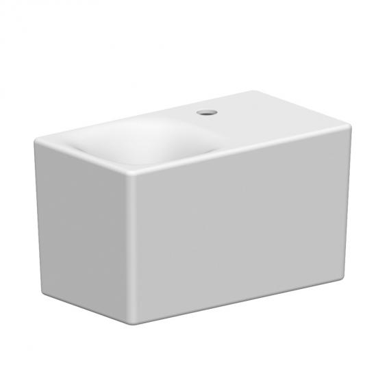 Scarabeo Cube countertop or wall-mounted washbasin white