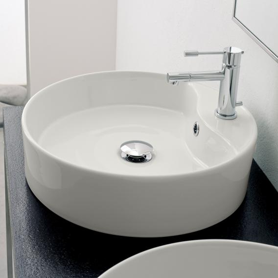 Scarabeo Geo R countertop washbasin white, with BIO system coating
