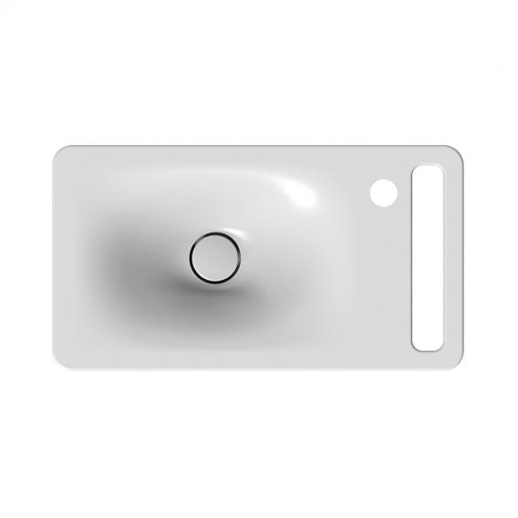 Scarabeo Hung wall-mounted washbasin white