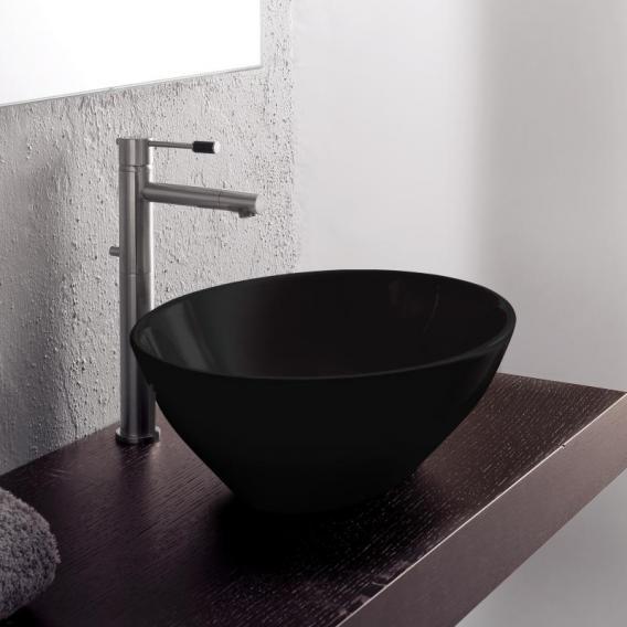 Scarabeo Ovo countertop washbasin black