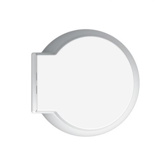 Scarabeo Planet wall-mounted washdown toilet rimless, black