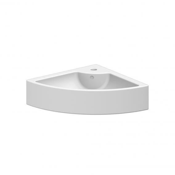 Scarabeo Square E corner countertop or wall-mounted washbasin white