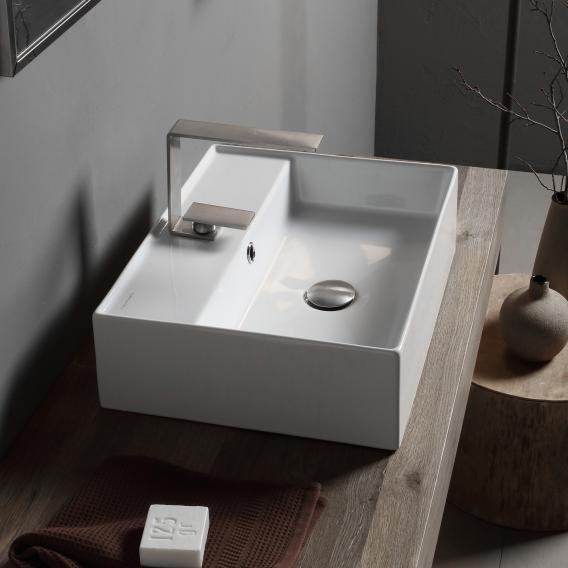 Scarabeo Teorema 2.0 countertop hand washbasin white, with BIO system coating