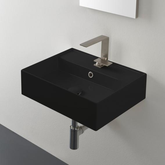 Scarabeo Teorema 2.0 countertop or wall-mounted hand washbasin black, with BIO system coating
