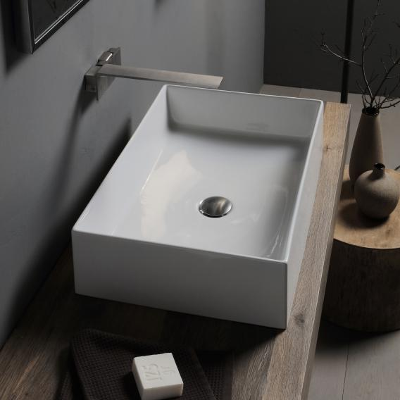 Scarabeo Teorema 2.0 countertop washbasin white, with BIO system coating