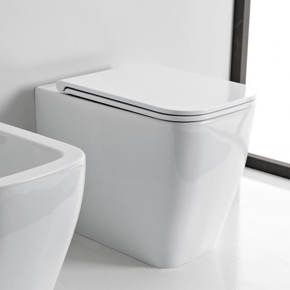 Scarabeo Teorema 2.0 floorstanding washdown toilet white, with BIO System coating