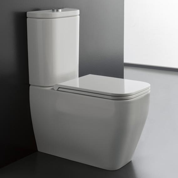 Scarabeo Teorema 2.0 monobloc floorstanding close-coupled washdown toilet white, with BIO System coating