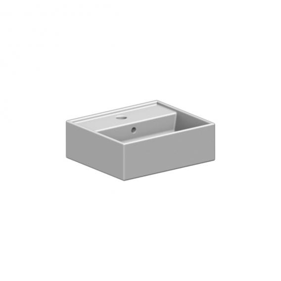 Scarabeo Teorema countertop or wall-mounted hand washbasin white, with BIO system coating