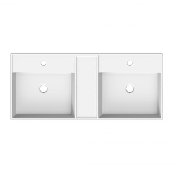 Scarabeo Teorema R double countertop or wall-mounted washbasin white