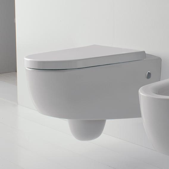 Scarabeo Tizi wall-mounted washdown toilet white