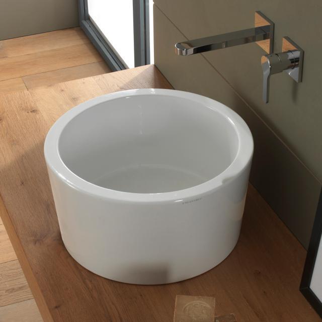 Scarabeo Bucket countertop washbasin white