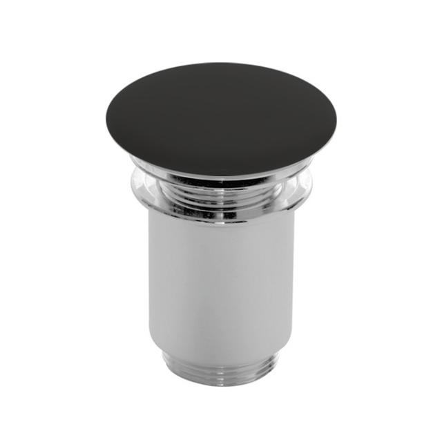 Scarabeo click-clack waste valve with ceramic cover, with overflow connection matt black