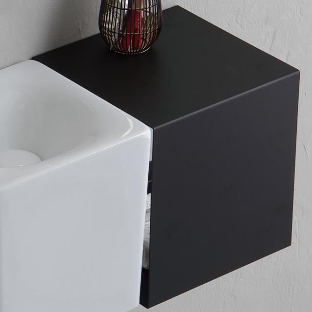 Scarabeo Fold wall unit with open side matt black