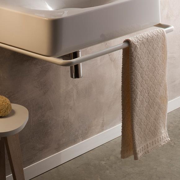Scarabeo Fuji towel rail matt white