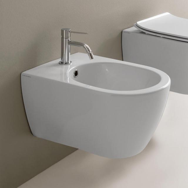 Scarabeo Moon wall-mounted bidet white, with BIO system coating