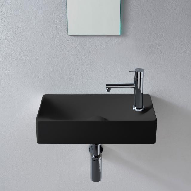 Scarabeo Soft countertop or wall-mounted washbasin matt black, with BIO system coating
