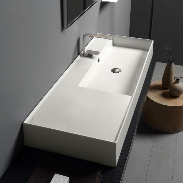 Scarabeo Teorema 2.0 countertop or wall-mounted washbasin matt white