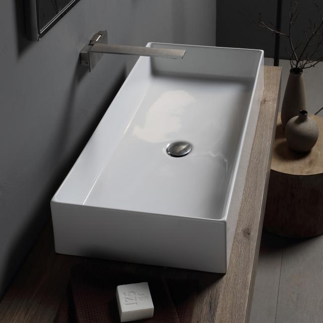 Scarabeo Teorema 2.0 countertop washbasin white, with BIO system coating