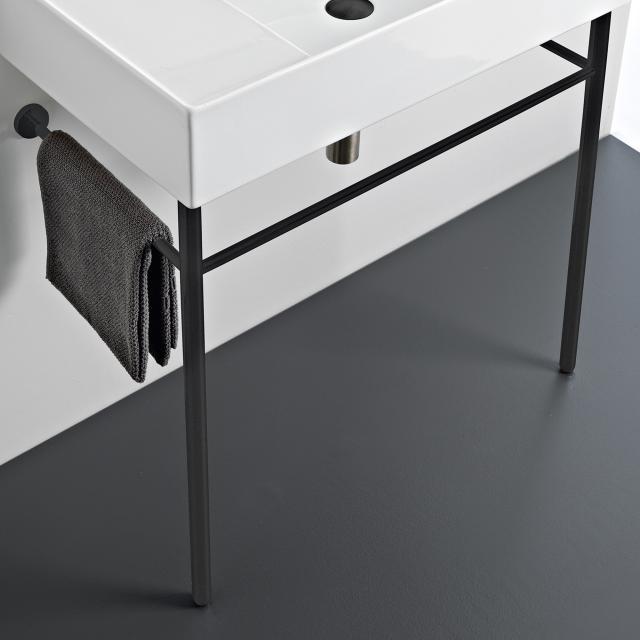 Scarabeo Teorema 2.0 metal console matt black, for washbasin 5105